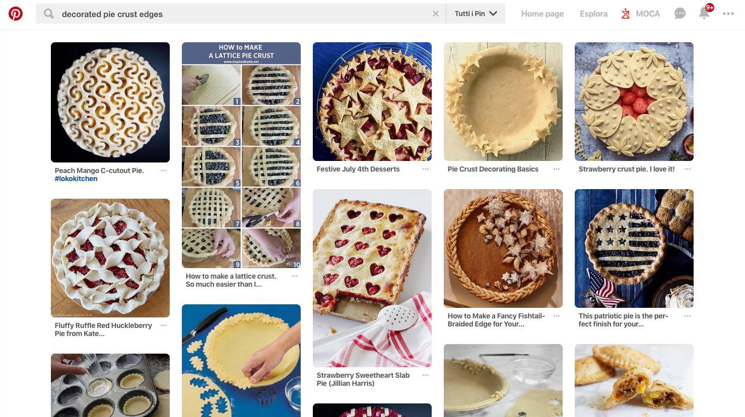 Ricerca Pinterest