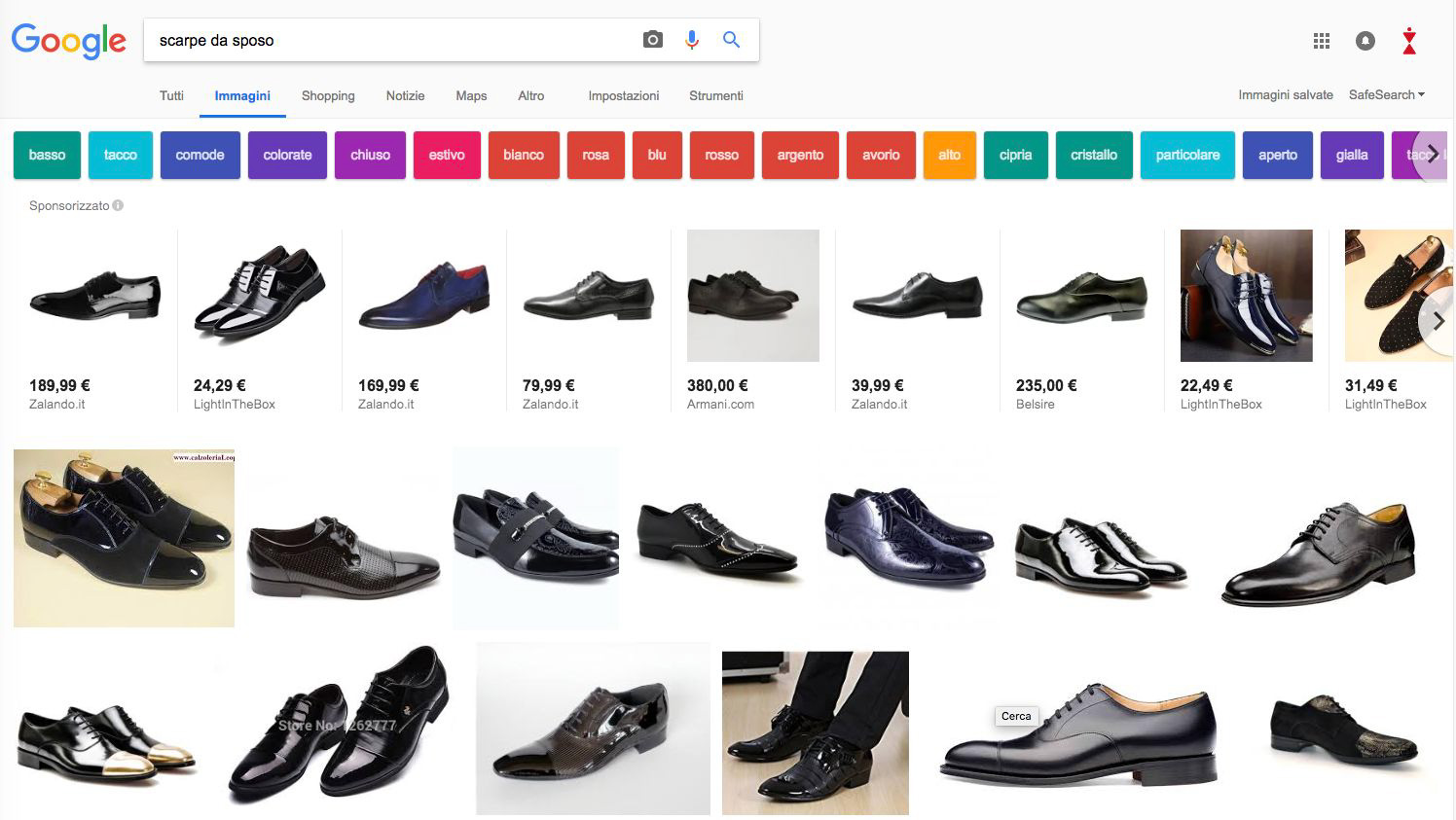 Etichette SEO immagini Google