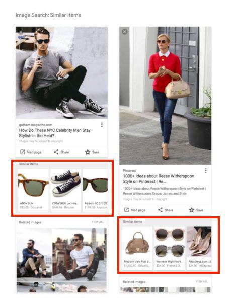 Nuovo layout ricerca immagini Google da mobile