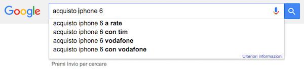 Funzione autocomplete Google