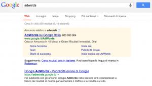 Annuncio AdWords