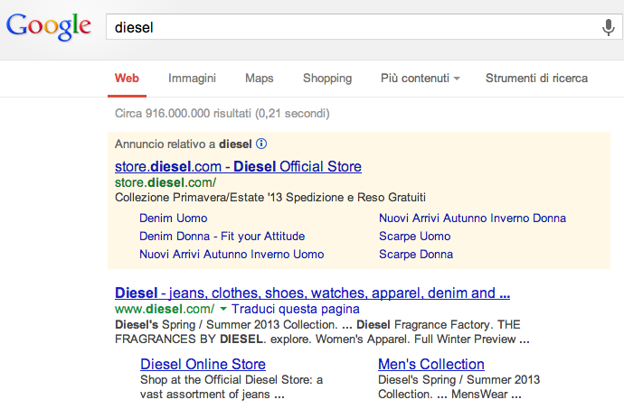 annuncio Diesel