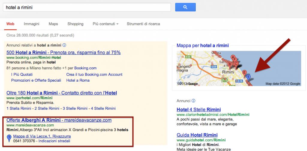 annunci mappe Google