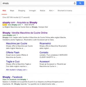 Esempio Campagna Search di Brand