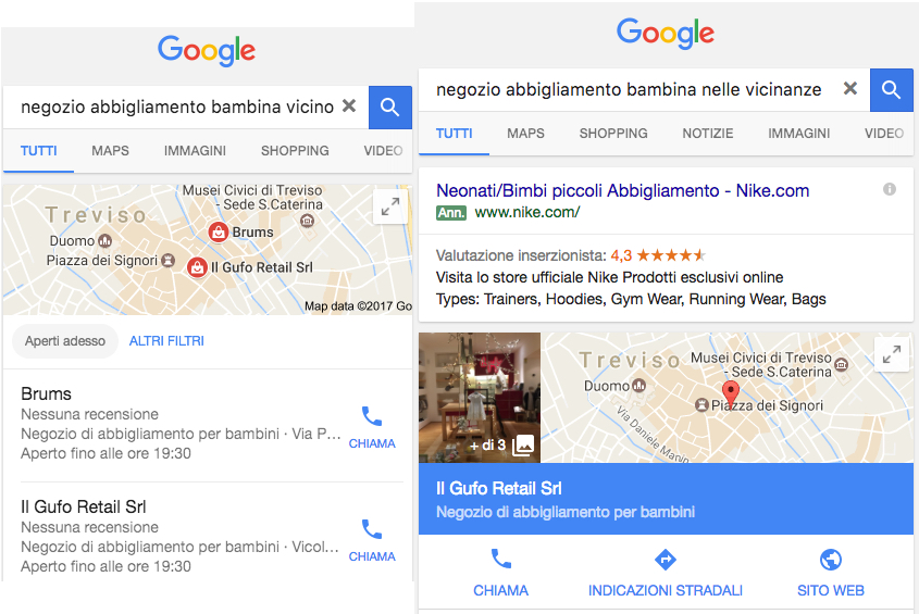 ricerche locali e conversioni