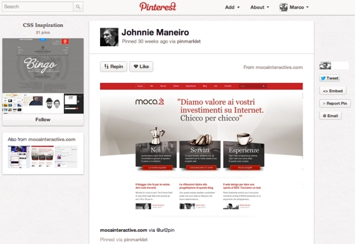 Layout mocainteractive.com in CSS Inspiration su Pinterest