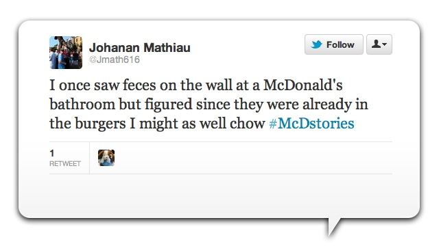 McDonald's e l'hashtag #McDstories