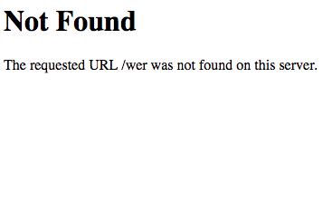 Pagina 404 standard