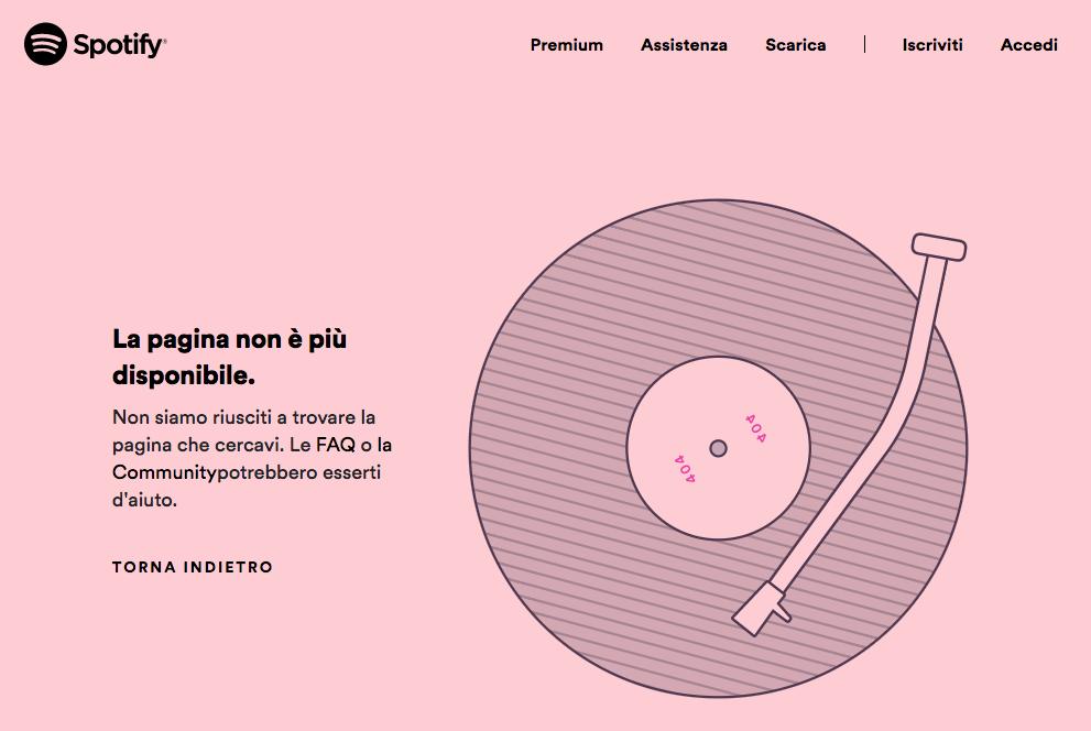 Pagina 404 Spotify