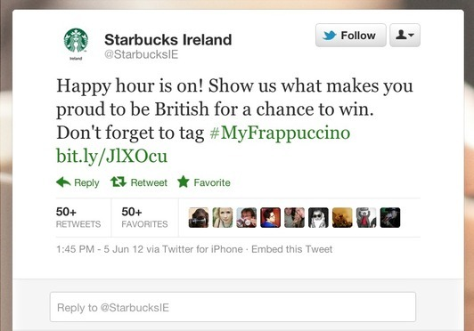 Starbucks e il tweet per il Diamond Jubilee