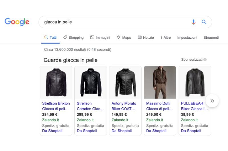 esempio test immagini shopping